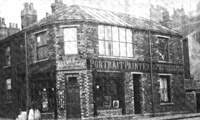 Alfred Coe's shop at 2 Barkerend Road, Bradford, 1900