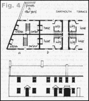 Plan of back-to-back houses in Dartmouth Terrace, Manningham